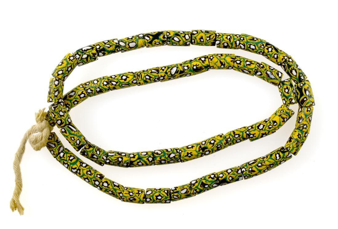 "31"" Millefiori Trade Bead Necklace"