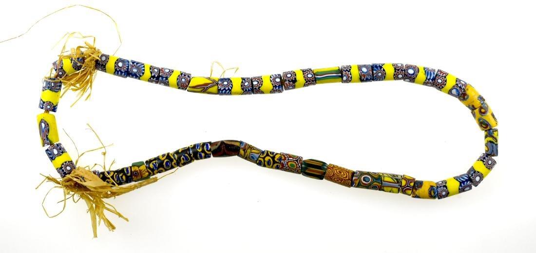 "21"" Millefiori Trade Bead Necklace"