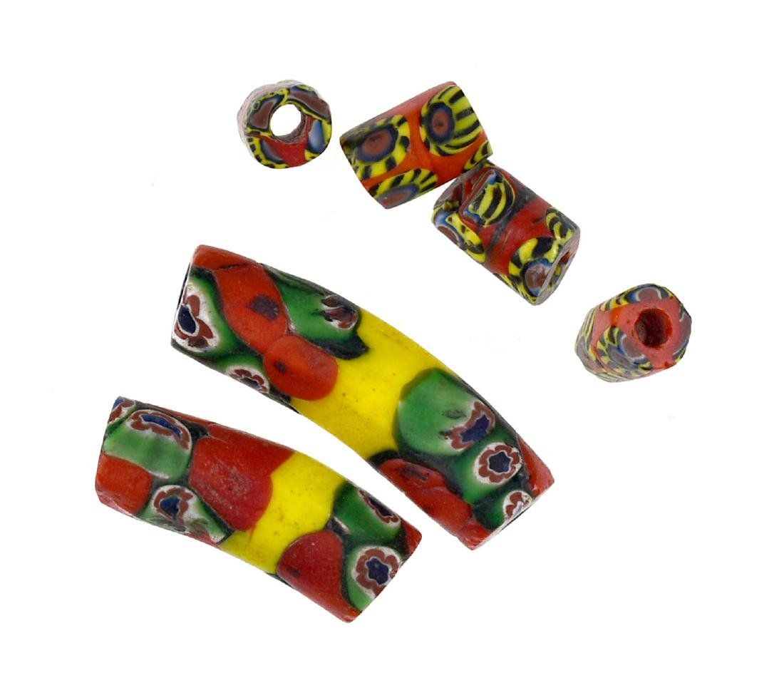 6 Millefiori Beads