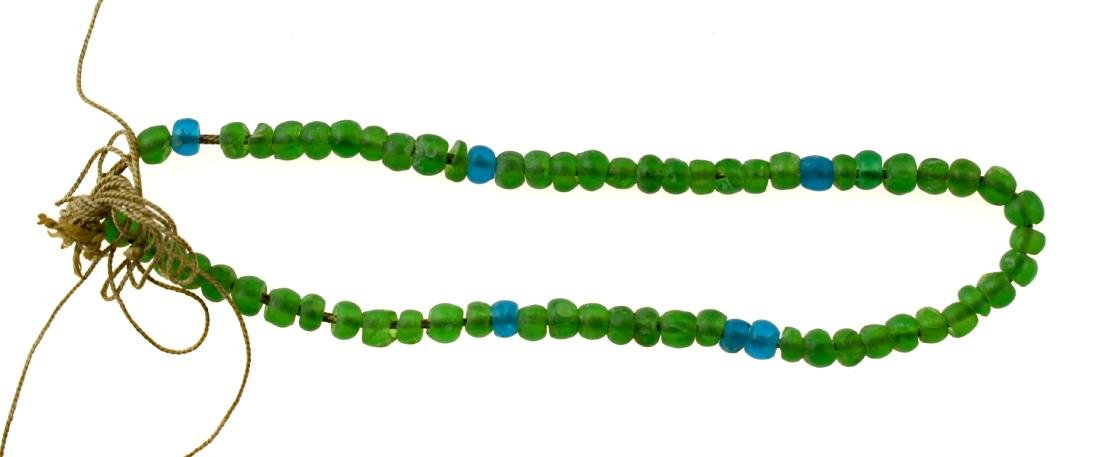 "17"" Green Trade Bead Necklace"
