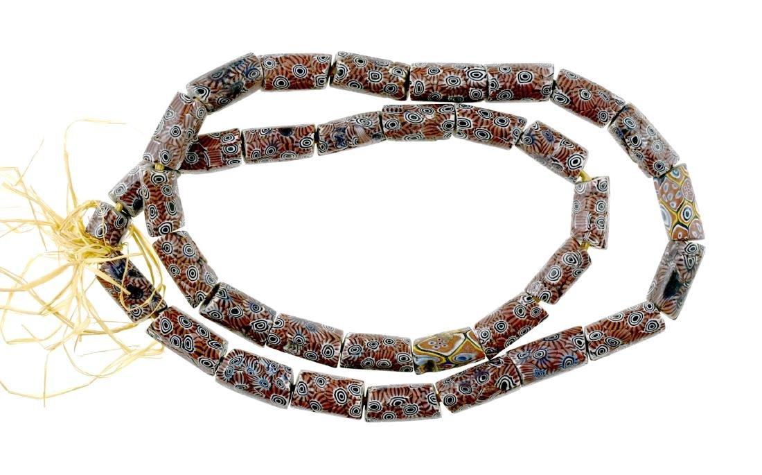 "28"" Millefiori Trade Bead Necklace"