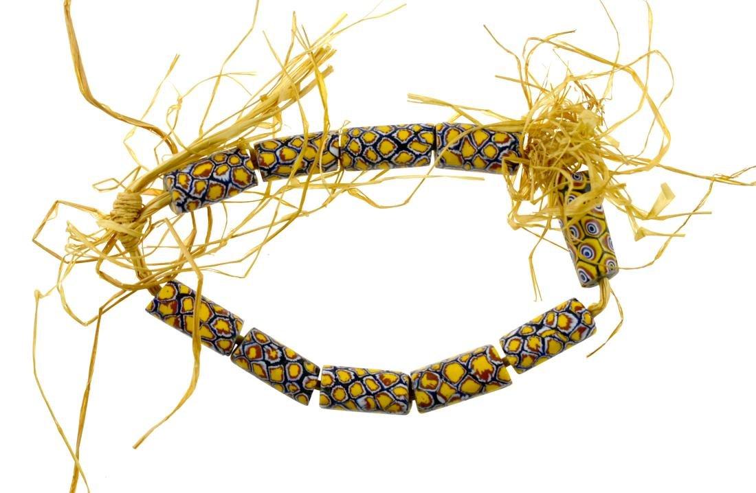 "9 3/4"" Millefiori Trade Bead Necklace"
