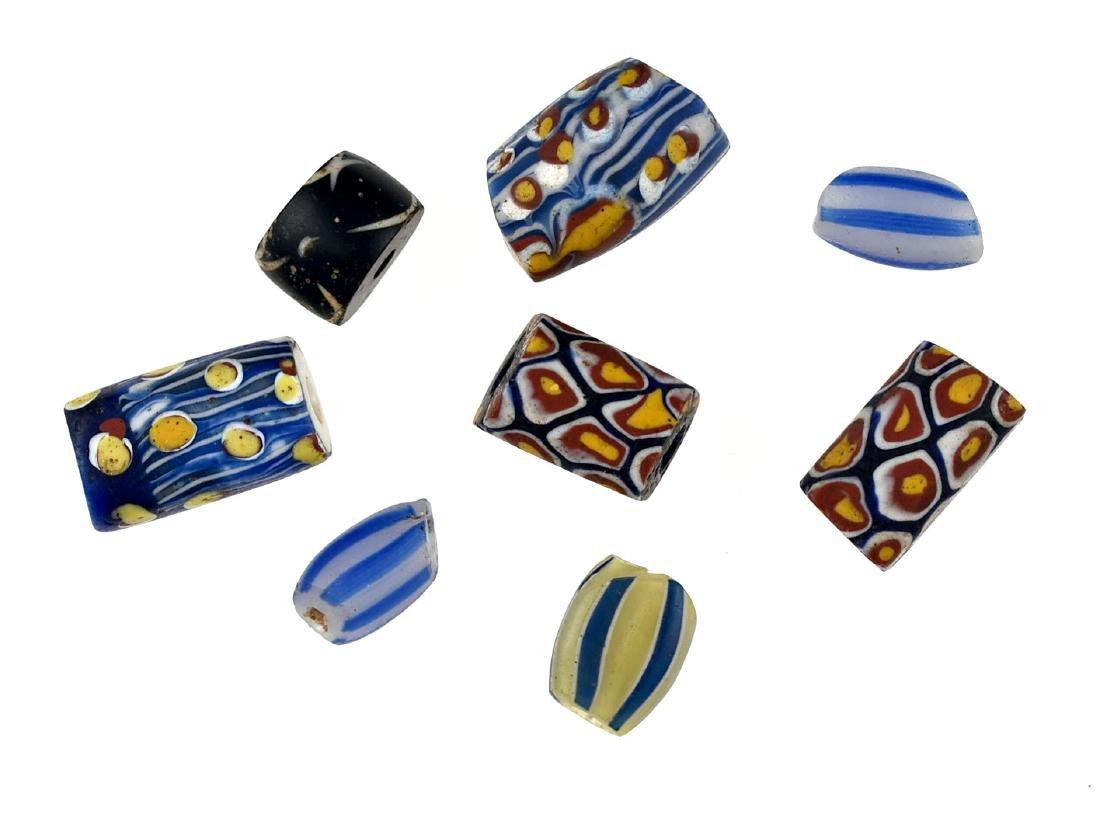 8 Fancy Trade Beads