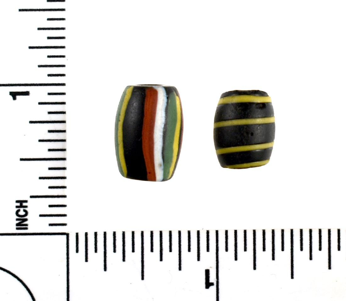 Pair of Colorful Trade Beads