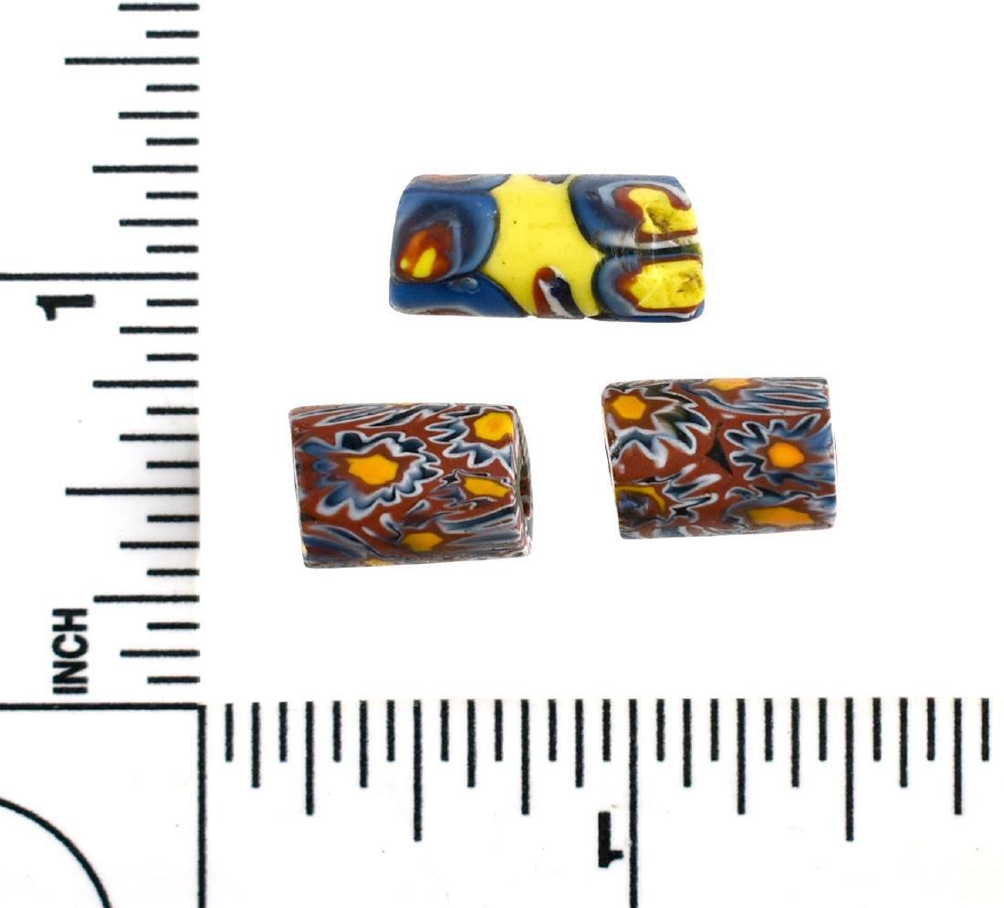 3 Millefiori Beads