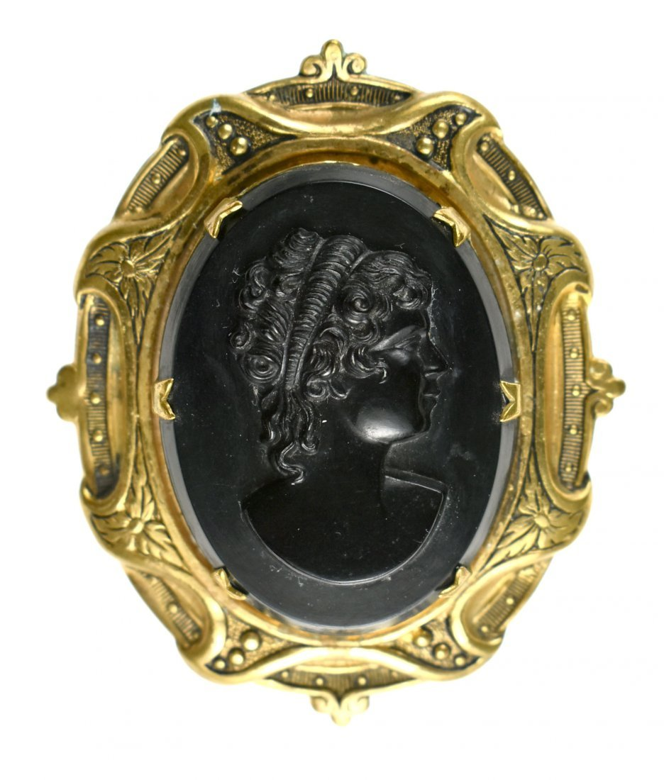 Large Vintage Victorian Style Cameo - 3