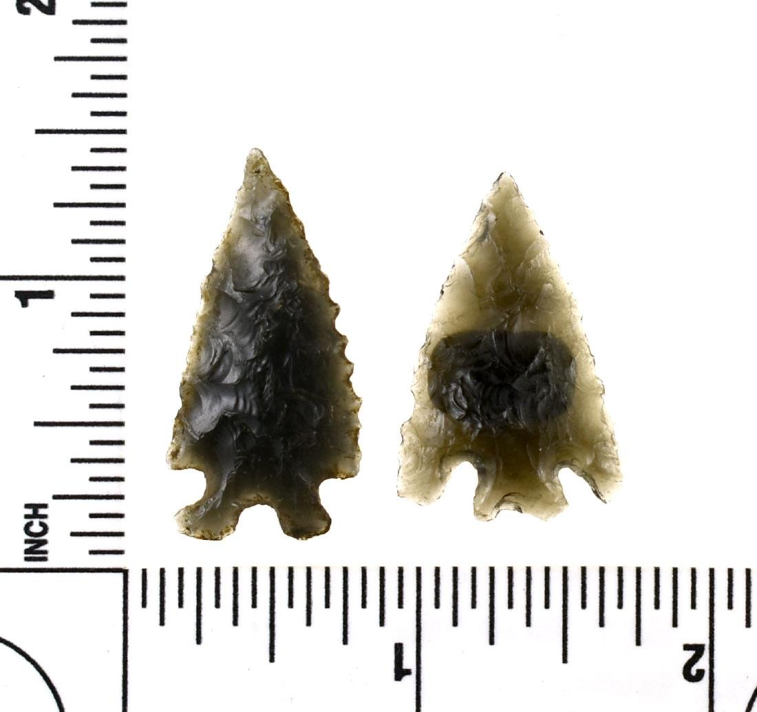 Pair of Western Obsidian Elko Points