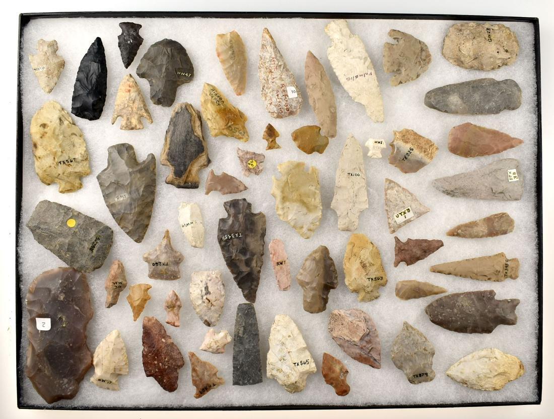 Large Texas Artifact Display