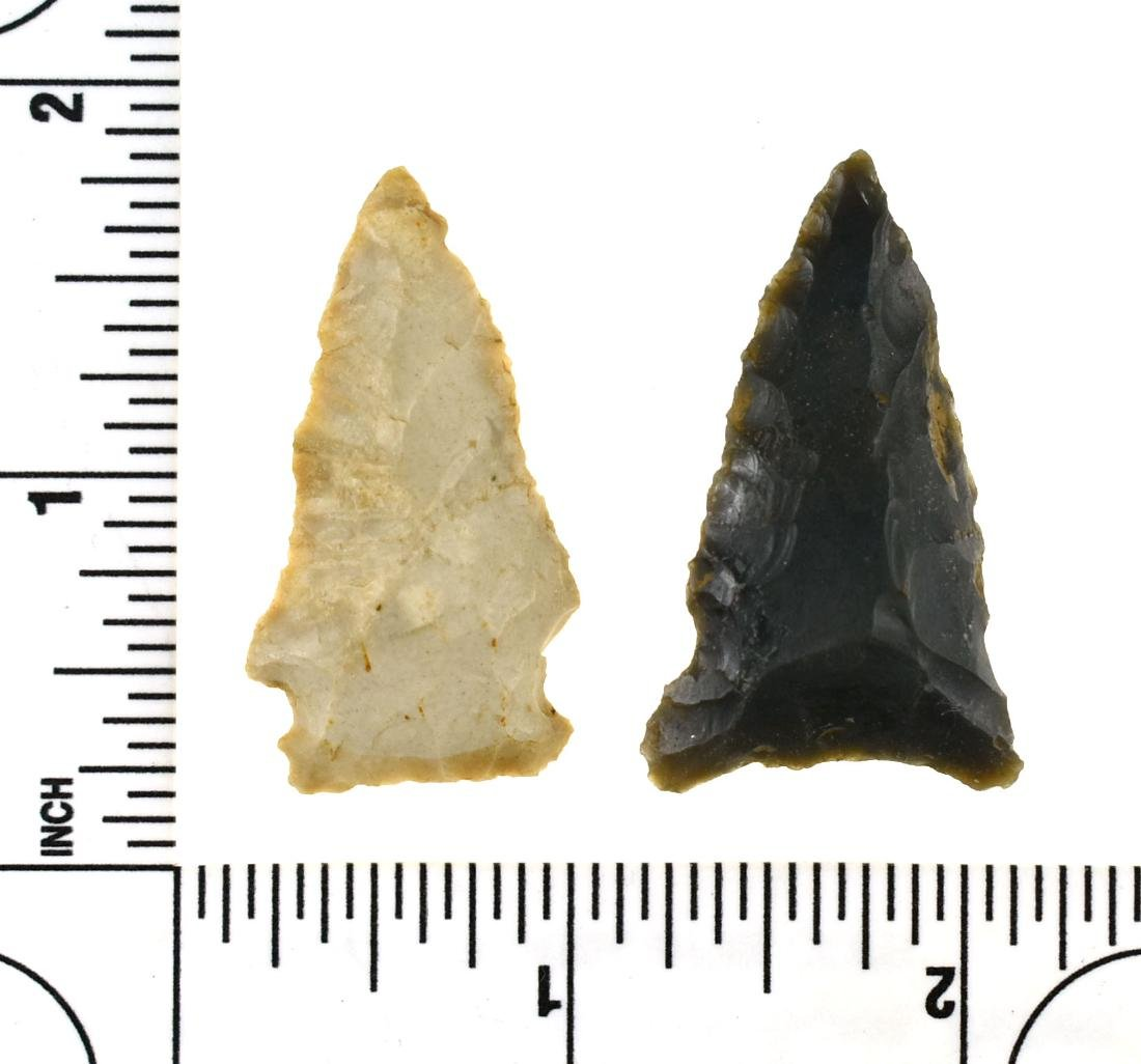 Pair of Indiana Arrowheads