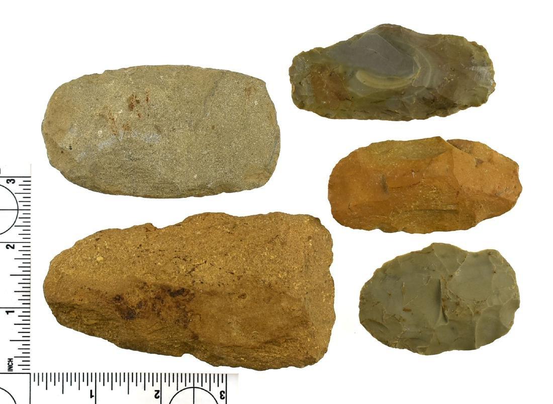 Five Kentucky Flint Celts