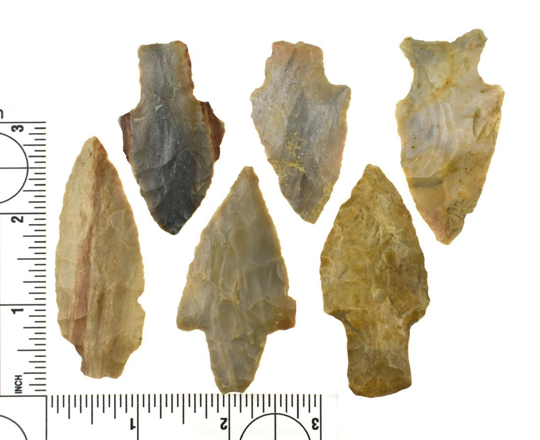 6 Excellent Colorful Kentucky Arrowheads