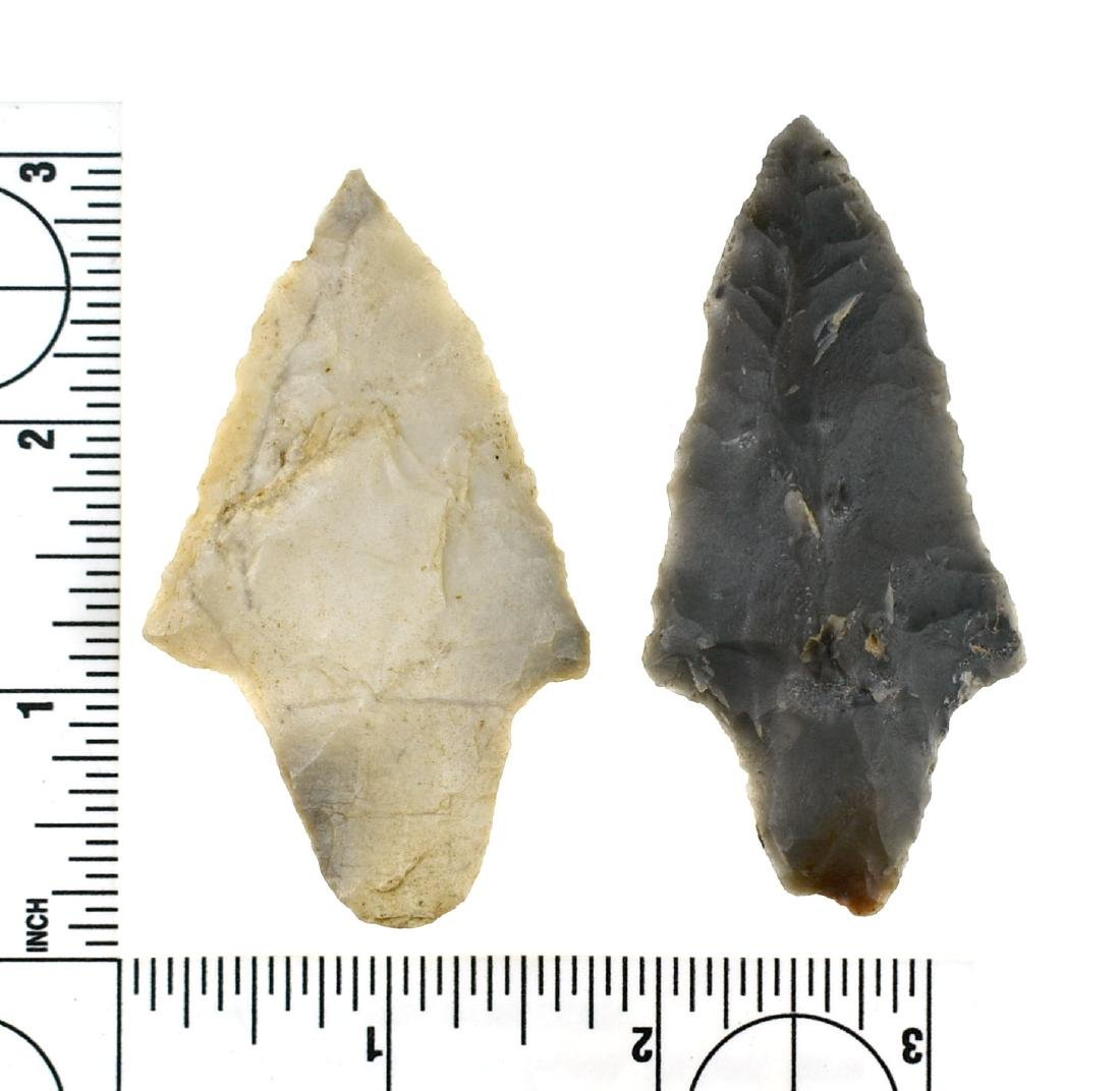 Pair of Semi-Translucent Novaculite Gary Points