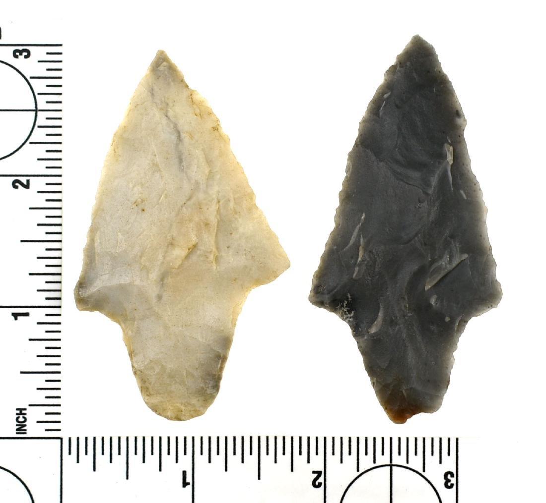 Pair of Semi-Translucent Novaculite Gary Points - 2