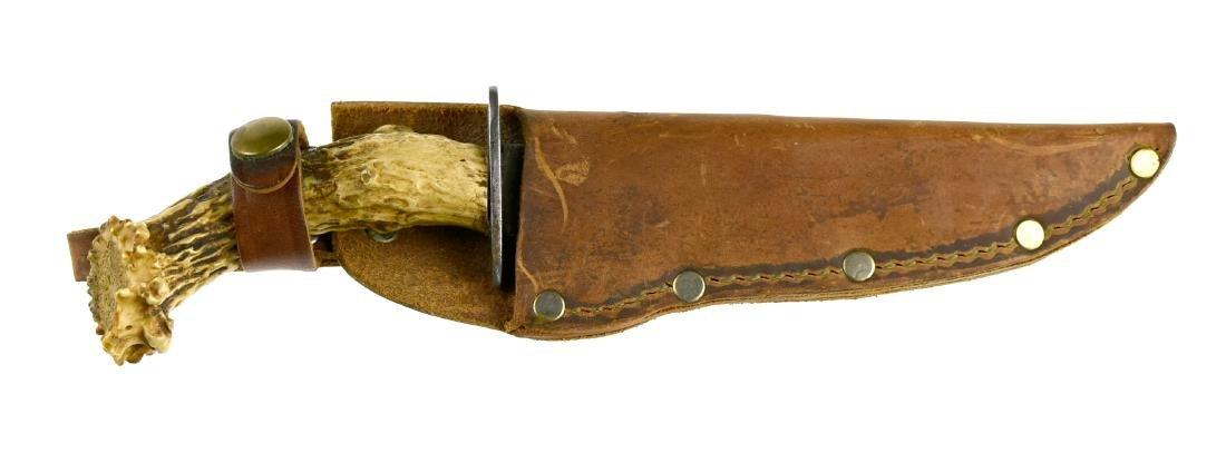 Vintage Stag Handled Hunting Knife