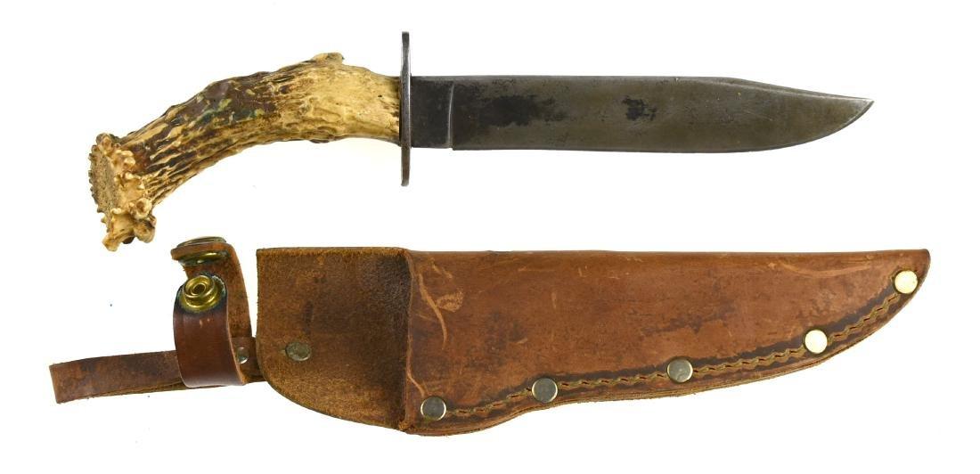 Vintage Stag Handled Hunting Knife - 2