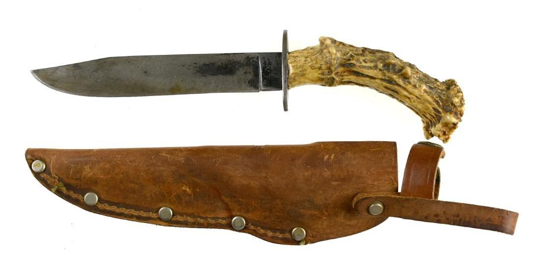Vintage Stag Handled Hunting Knife - 3
