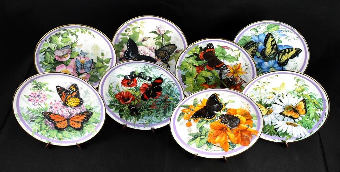 8pc Butterfly Garden Collector Plate Set
