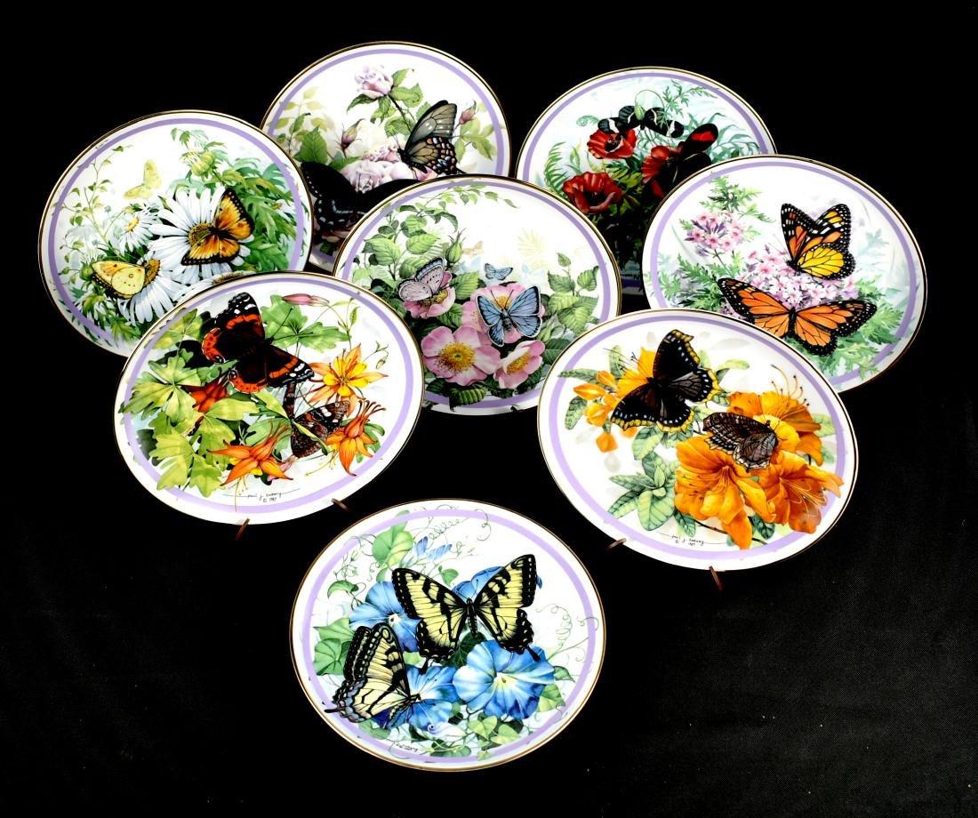 8pc Butterfly Garden Plate Set