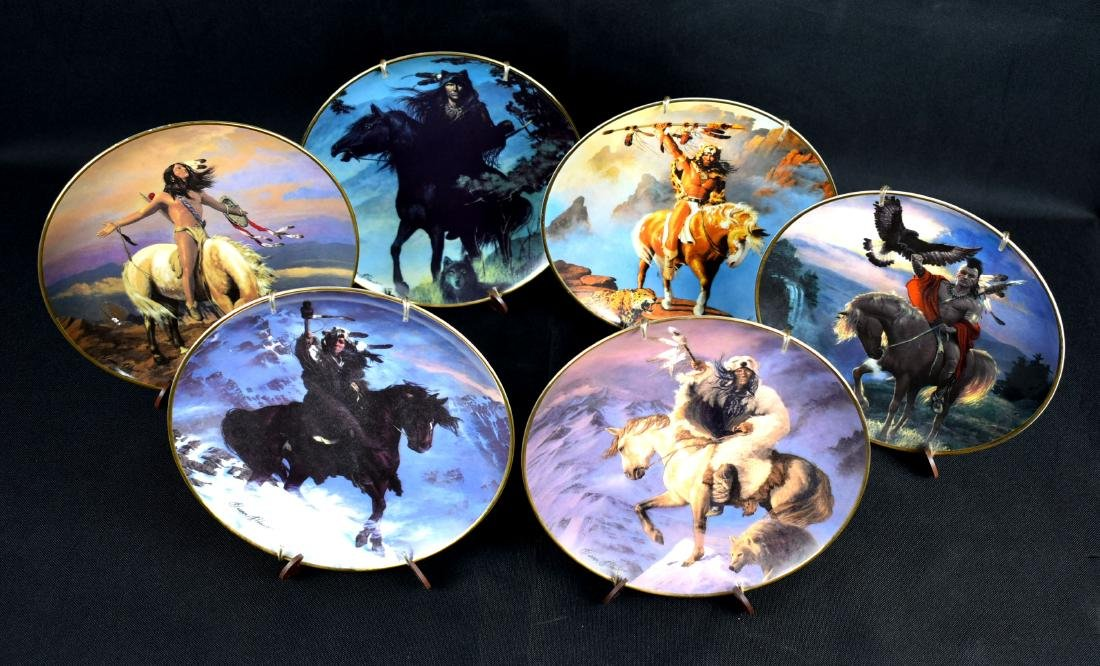 6pc Indian Heritage 'Spirits' Collector Plates
