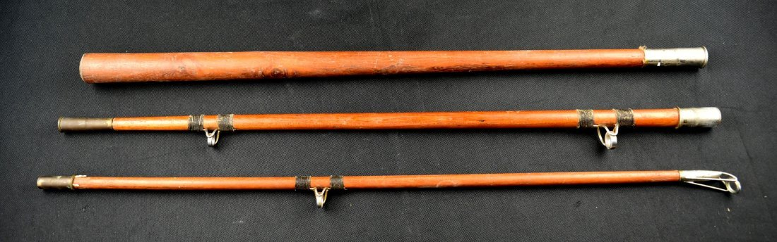 6' Vintage Wooden Fishing Rod