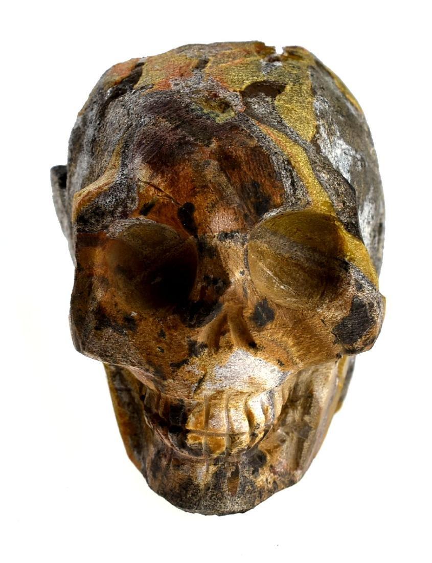 """2 3/4"""" Carved Skull Geode - 6"""