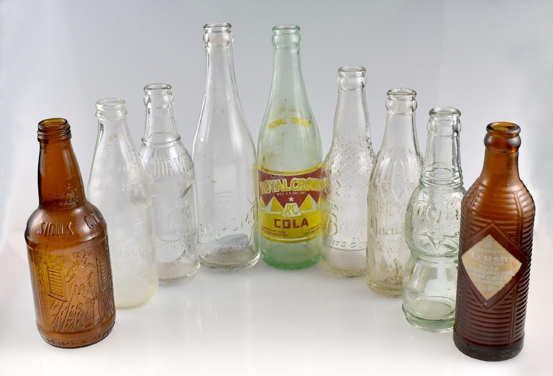 9 Vintage Soda Bottles