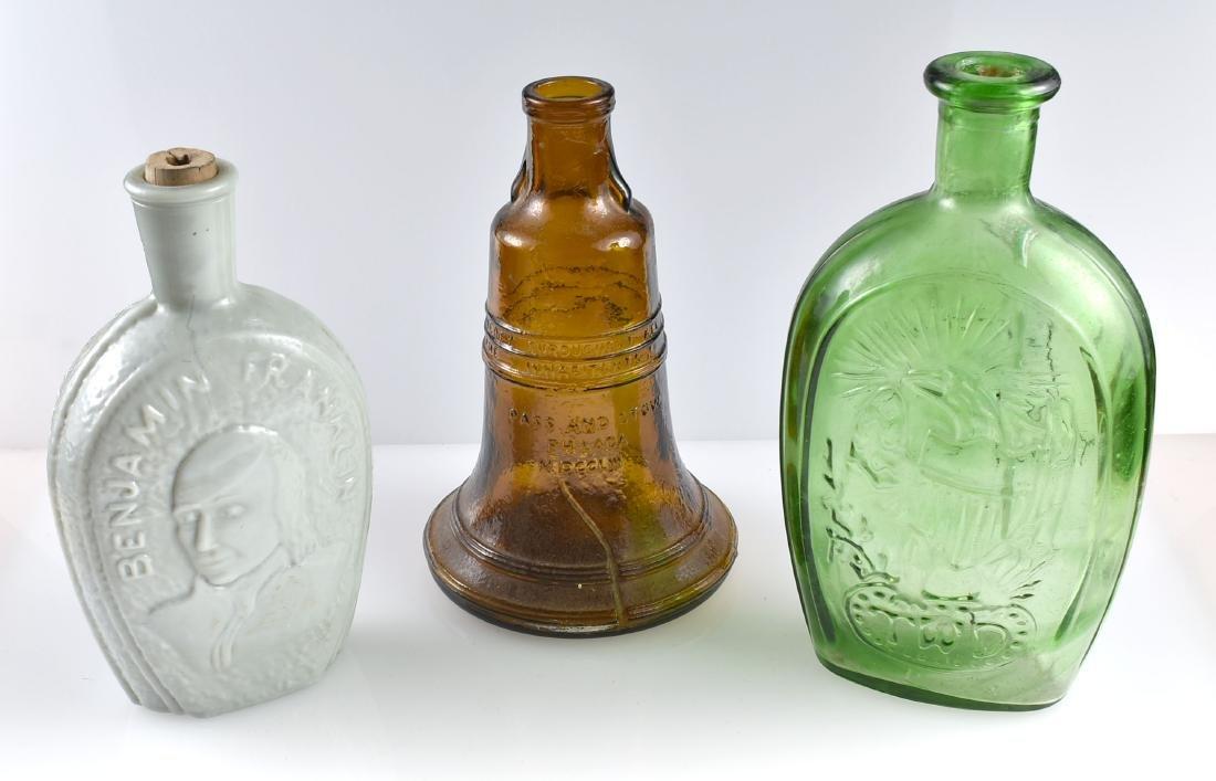 3 Patriotic Whiskey Bottles/Decanters