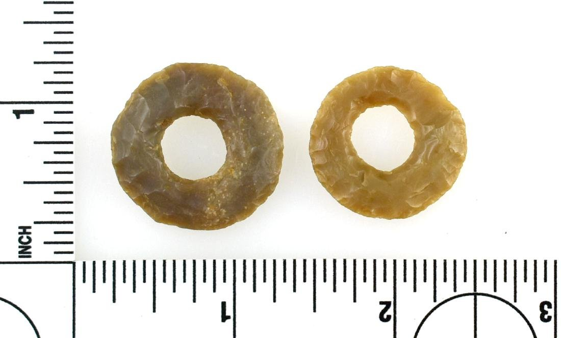 Pair of Unique Flint Chipped Rings