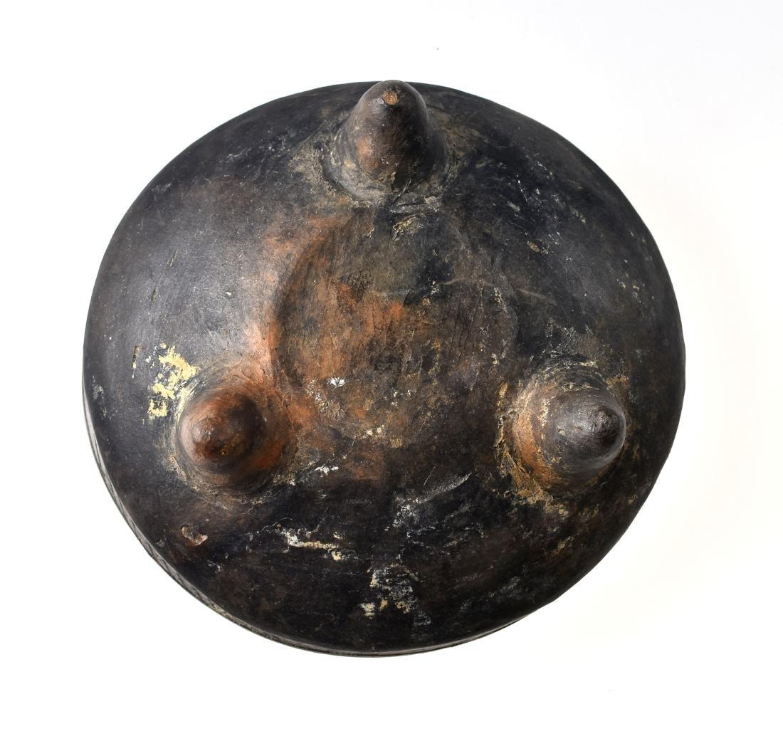 "6 1/4"" PreColumbian Mayan Tripod Bowl - 4"