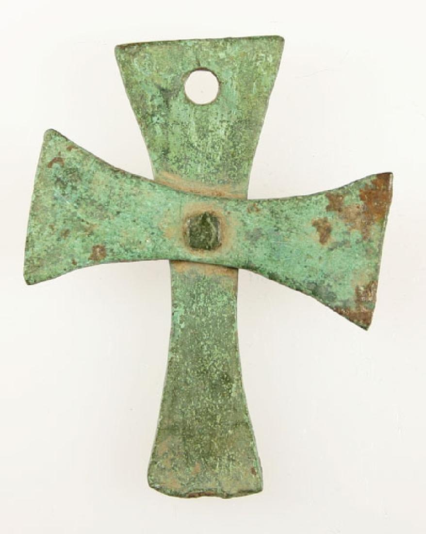 FANTASTIC 6th CENTURY BRONZE BYZANTINE CROSS