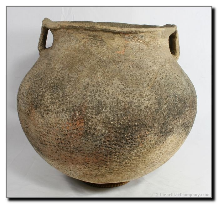 "248: 18"" Mississippian Strap-Handled Pot - SALE HIGHLIG"
