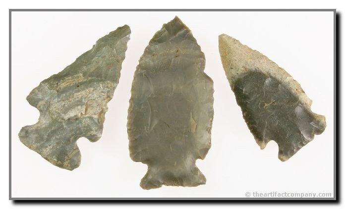 7: 3 Colorful Archaic Points From Indiana