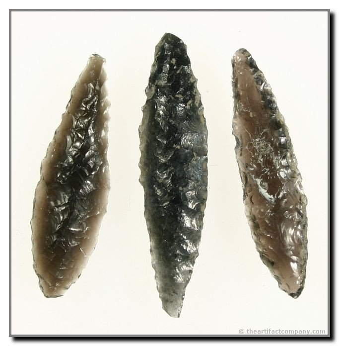 15: Group of 3 Obsidian Lanceolates From Oregon