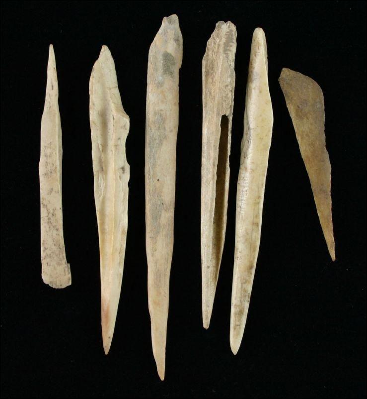 5: 6 Bone Awls and Needles