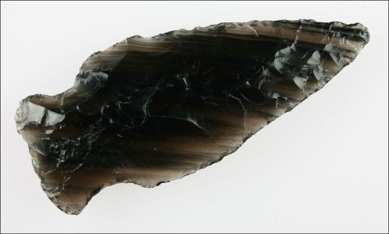 "23: Spectaularly Gorgeous Striped Obsidian 3 1/2"" Notch"