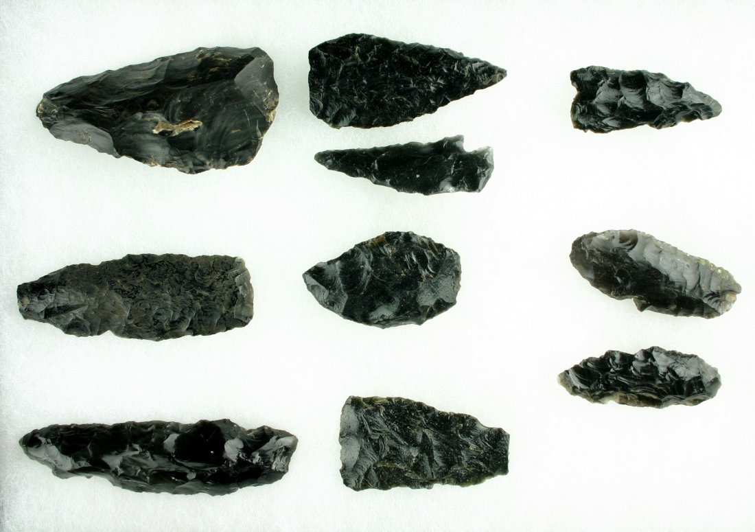 83: 10 Large Obsidian Tools & Points