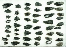 50 Assorted Obsidian Points
