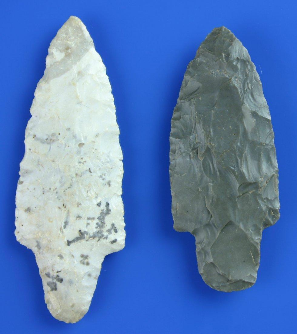 1: Pair of Nice Adenas Arrowheads