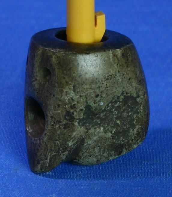 "5: 1 9/16"" Ft. Ancient Effigy Pipe - Jackson G-8+ COA"