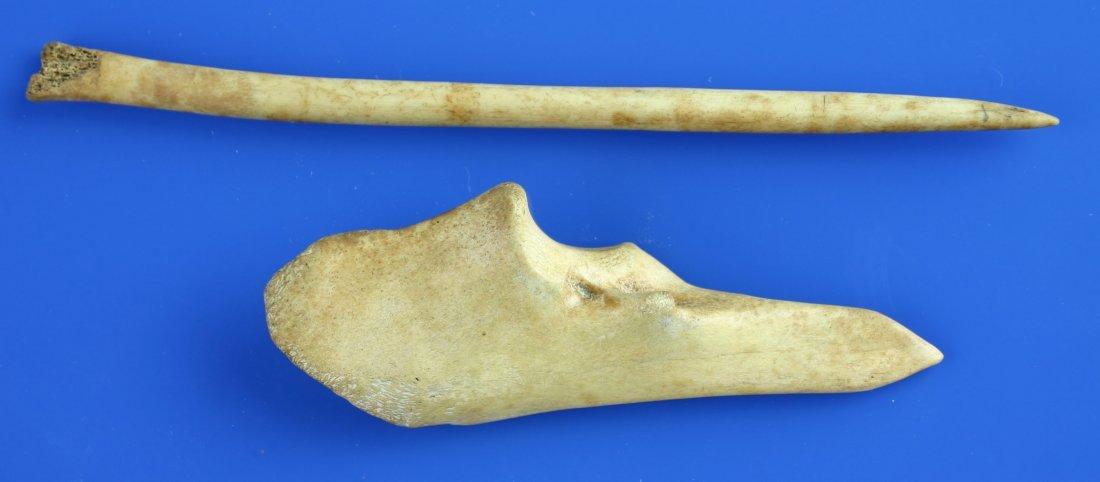 14: 2 Bone Awls/Pins