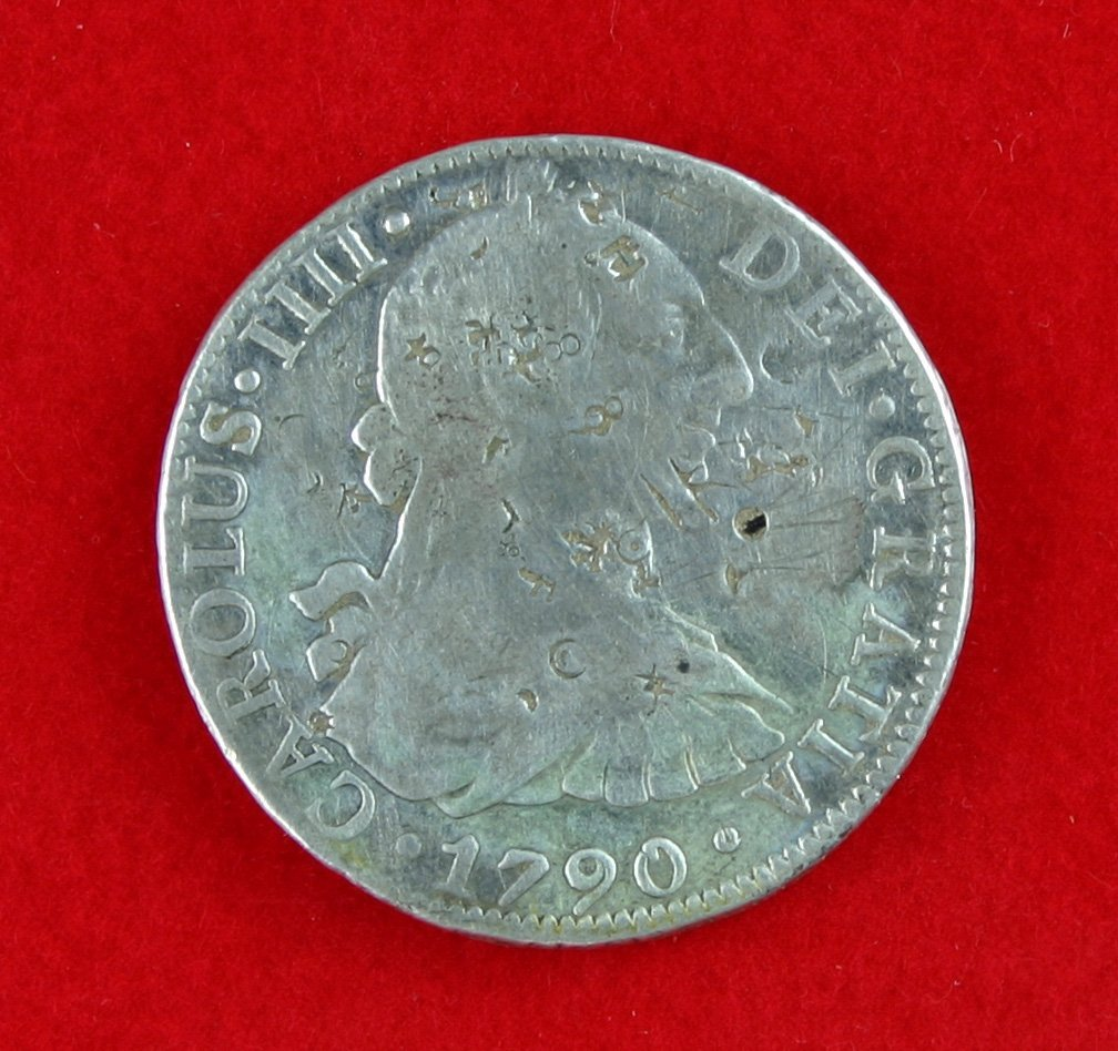 120: Large Early 1790 F.M. (Mexico) 8 Reales