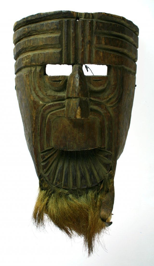 """12: 10""""x5 7/8"""" Possible Alaskan Mask with Goatee"""
