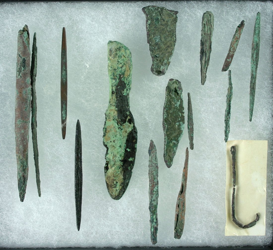 59: 15 Assorted Old Copper Culture Artifacts