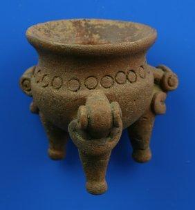 """2 7/8"""" Pre-Columbian Tripod Pot"""