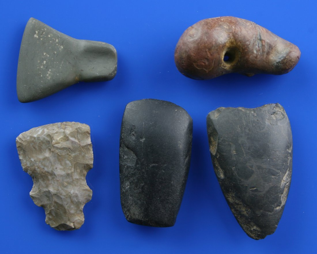 4pc Stone Tool Collection
