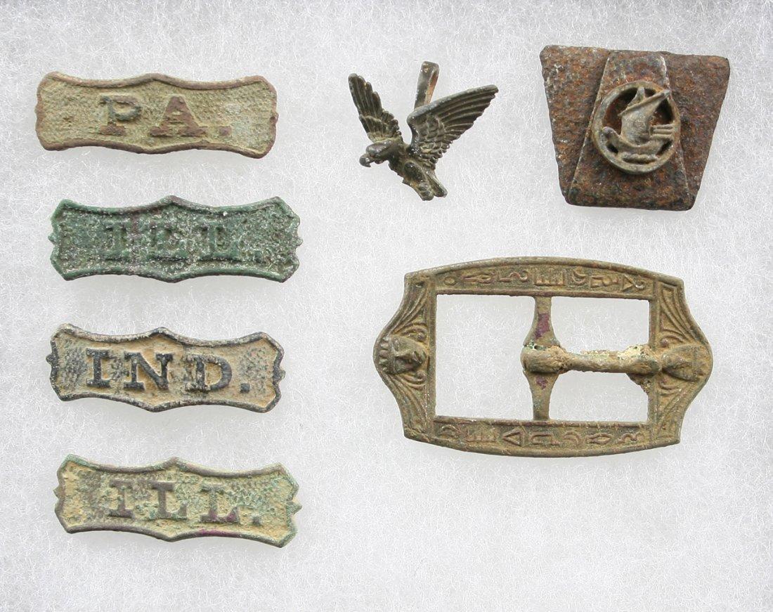7pc Mini Collection of Civil War Era Relics