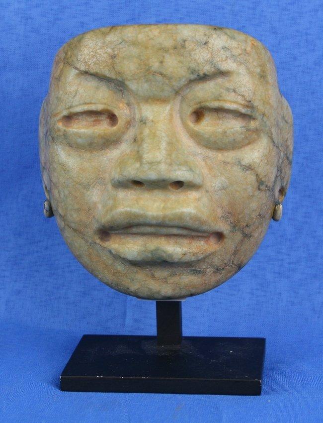 "4""x4"" Pre-Columbian Olmec Mask - Stoetzer Report"