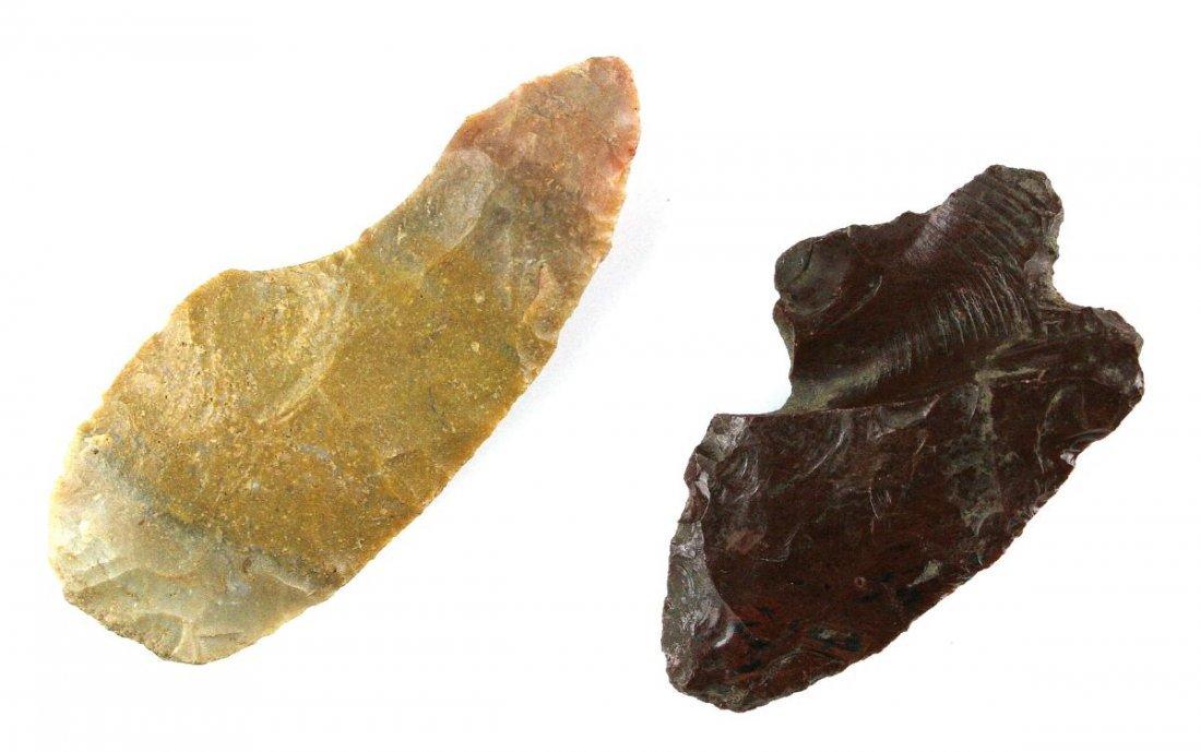 Pair of Flint Blade Fragments