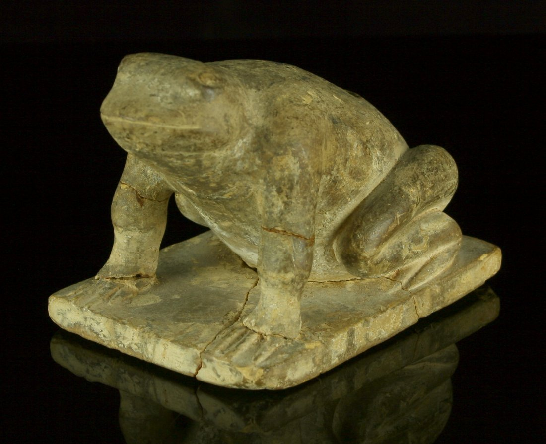 "SALE HIGHLIGHT** 5""x3.5"" Hopewell Frog Effigy Pipe!"