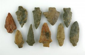 Dealer Lot - 10 Good Sized Tennessee Arrowheads